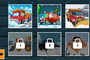 冬季卡车拼图