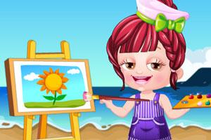 可爱宝贝当画家