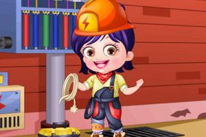 可爱宝贝当电工