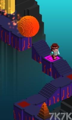 《像素头逃亡》游戏画面2