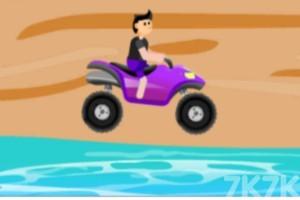 《沙灘車障礙賽》游戲畫面4
