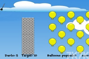 《忍者镖气球》游戏画面1