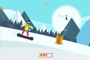 《雪山滑雪板》游戏画面2