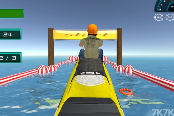 《特技摩托艇大赛》游戏画面1